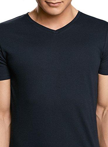shirt Bleu Oodji En 7900n Col Basique Homme V Ultra Sans Étiquette T qHtpR