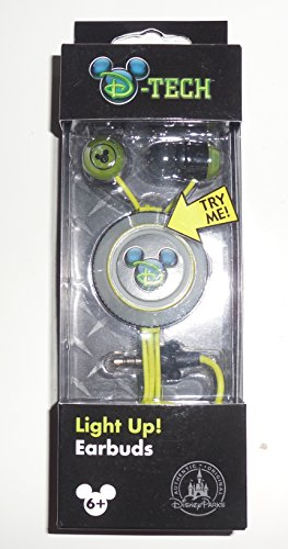 Disney Parks Exclusive D-Tech Disney Tech Mickey Mouse Light Up Earbuds