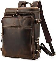 Lannsyne リュックサック メンズ 本革 レザー バックパック 超大容量 16インチPC A4対応 B4鞄 1泊2日 出張 旅行 ビジネス 通気性 機能性 1年間安心保証