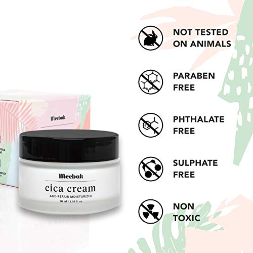 41VBOdi955L - Meebak Cica Face Cream Moisturizer 1.7oz, Anti-Aging, Anti-Wrinkles Natural Day Cream and Night Cream