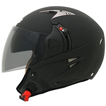 SHIRO SH-70 SUNNY - Casco para moto (doble pantalla), color negro