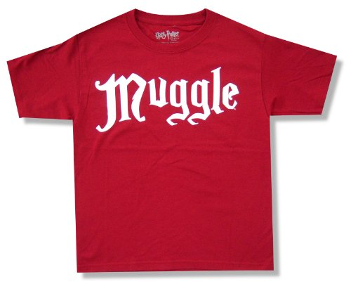 """Bioworld Youth Harry Potter """"Muggle"""" Red T-Shirt"""