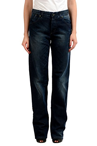 Gianfranco Ferre Dark Wash Women's Straight Leg Jeans US 7 IT 29
