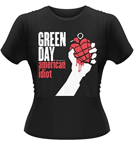 Ladies Green Day American Idiot Punk Rock offiziell Frauen T-Shirt Damen