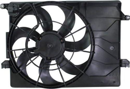 Crash partes Plus Radiador único ventilador de refrigeración para Hyundai Tucson, Kia Sportage hy3115137: Amazon.es: Coche y moto