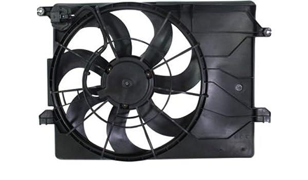 Crash partes Plus Radiador único ventilador de refrigeración para ...
