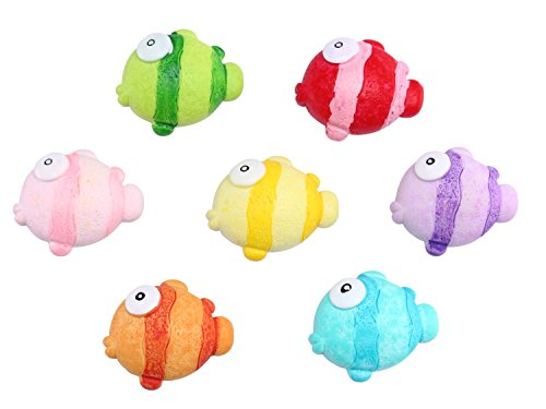 Mymazn Refrigerator Magnets, Fridge Magnets, Cute Fun Decoration Colorful (7 Fish)