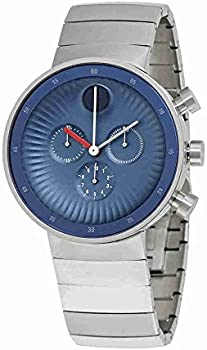 Movado Edge Chronograph Blue Dial Stainless Steel Men's Watch