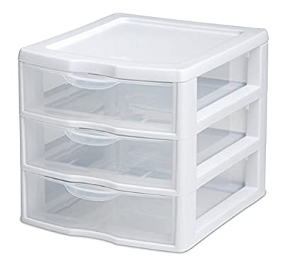 Sterilite 3 Drawer Clear Mini Unit 20738006