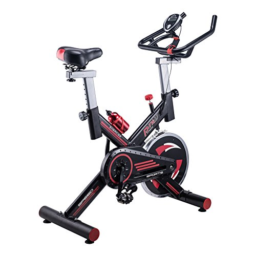 Pinty Stationary Exercise Bike Indoor Cycling Bike Workout Upright Exercise Bicycle Phone Holder Health & Fitness Fully Adjustable, 330lb Capacity