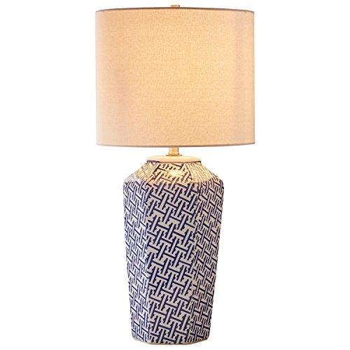 Stone & Beam Geo Pattern Ceramic Lamp With Bulb, 26