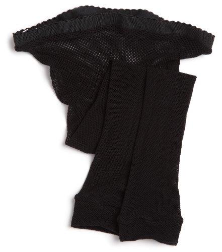 Capezio Big Girls' Basics Fishnet Capri, Black, One Size