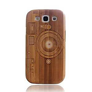 TOPAA Camera M9 Bamboo Wood Dark Bamboo Protective Case Cover for Samsung Galaxy S3 i9300