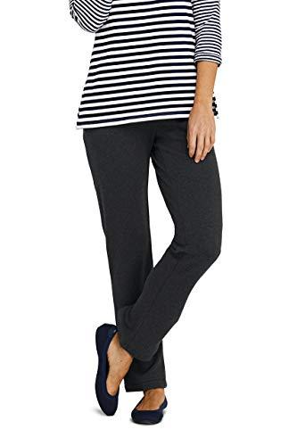 Lands' End Women's Petite Sport Knit Elastic Waist Pants High Rise ()