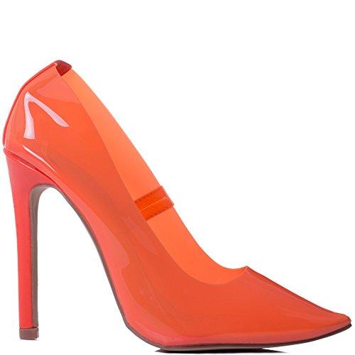Pompe Spylovebuy Sintetico Arancione Zecca Delle A Scarpe Spillo Nuove Tacco Alto Donne FwF8Zq