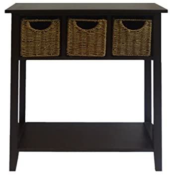 Malvern Console Table With Baskets.