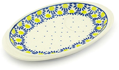 Polmedia Polish Pottery Polish Pottery 8½-inch Saucer Tray made by Ceramika Artystyczna (Radiant Scales Theme) + Certificate of Authenticity by Polmedia Polish Pottery
