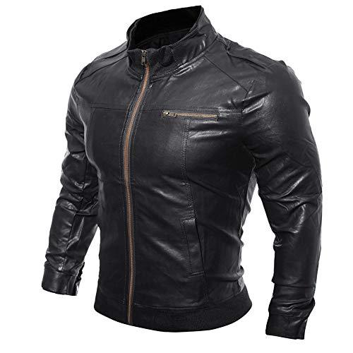 Winter Rétro ❤️manteau Noir Moto Manteaux En Blousons Classique Mens Homme Leather Hiver Veste Pu Biker Amlaiworld Épais Chaud Cuir Jacket Vintage Hiver Automne IpUwBrpx