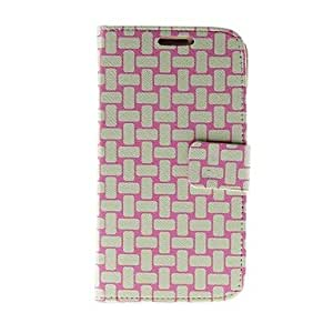 LZX Kinston Preparation Of Colored Lines Pattern PU Leather Full Body Case with Stand for Samsung S4 I9500