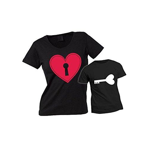 T Marca Magliette e per la Personalizzate Coppia per Lucchetto Chiave Nero e Madre Festa Shirt della Altra Figlio di Mamma w1pdnqwt