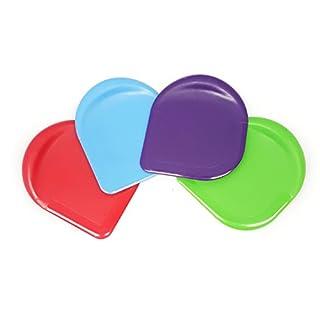 Happy Sales HSPS-4MC Nylon Pan Scraper (Set of 4), Multicolor