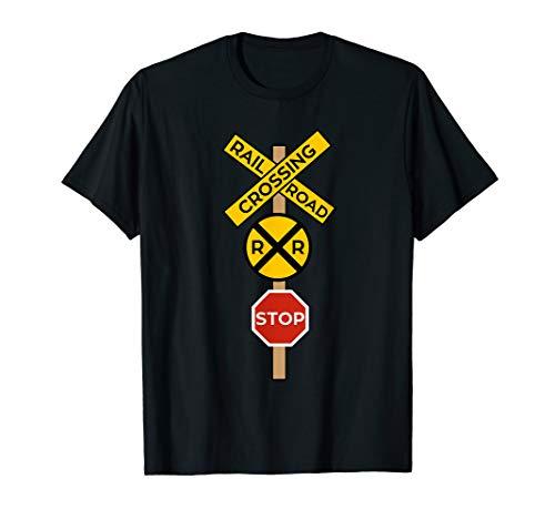 Railroad Crossing Shirt   Cute Road Sign Crossing Tee Gift ()