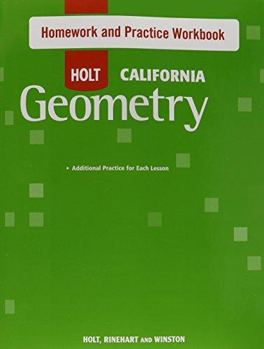 Holt Geometry: Homework and Practice Workbook Geometry