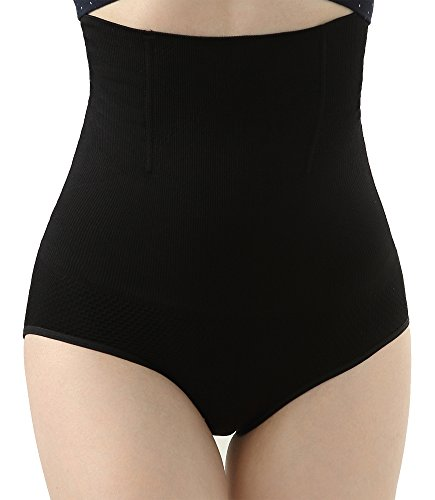 iloveSIA Women's C-Section Recovery Slimming Underwear Tummy Control Panties 2Black+Nude Size M
