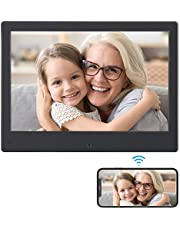 BSIMB WiFi Digital Picture Frame 8 Inch Digital Photo Frame 16GB 1280x800 IPS Screen Motion Sensor Remote Control Upload Photos/Videos from App, Email, Facebook W08