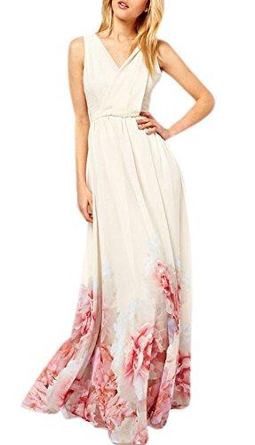 Printed Chiffon Long Dress - 2