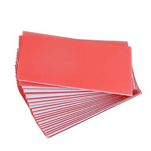 Dental 20PCS Lab Base Plate Wax Orthodontic Base Plate Red Utility Wax Sheets Dental Supply