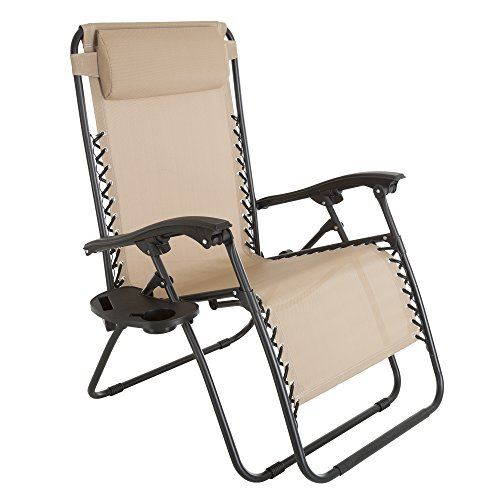 Pure Garden Oversized Zero Gravity Chair with Pillow and Cup Holder by Pure Garden