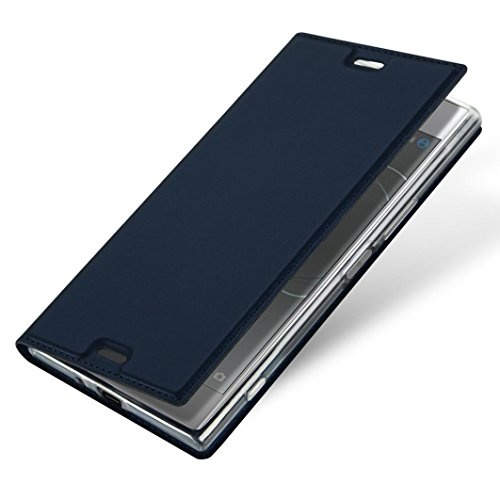 Price comparison product image For Sony Xperia XZ Premium,GBSELL Slim Layered Leather Flip Protective Stand Case Cover (Blue)