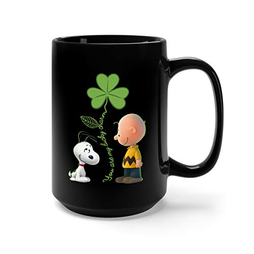 (You're My Lucky Charm Ceramic Coffee Mug Tea Cup (15oz, Black))
