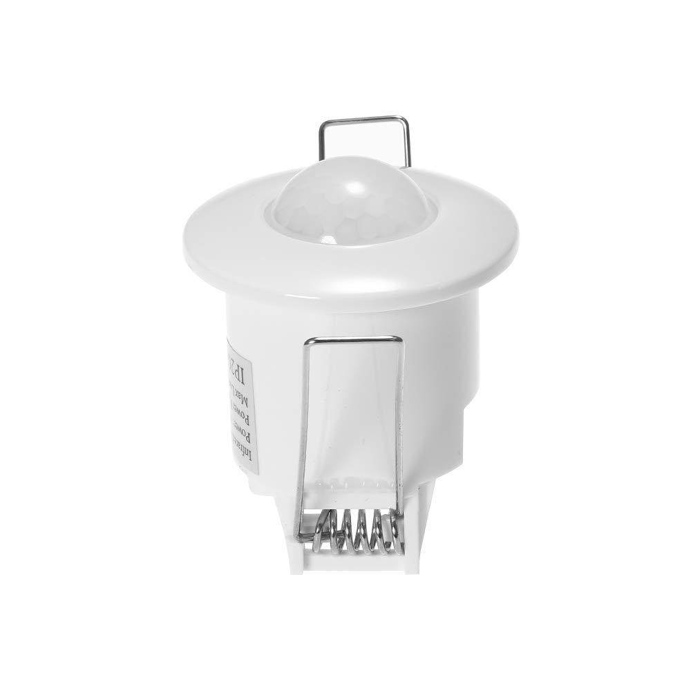 Mini Infrared Motion Sensor OWSOO Switch 360 Degree PIR Detection AC110V-240V Recessed Ceiling Occupancy Motion Sensor Detector Lamp Light Switch Delay Time Adjustable