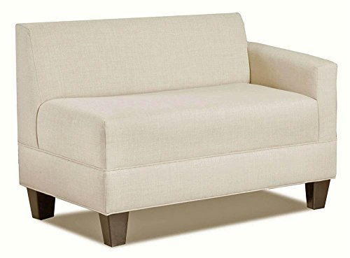 Carolina Accents Makenzie Right Arm Loveseat, Ash