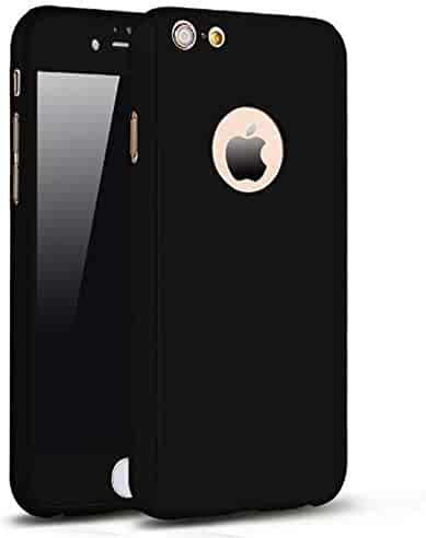af4962d8001 iPhone 6 Plus 6s Plus Full Body Hard Case-Aurora Black Front and Back