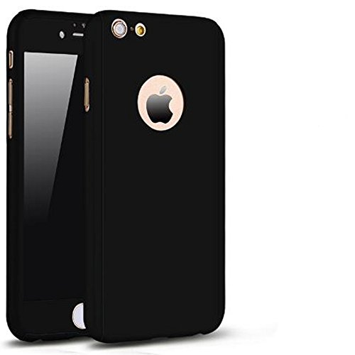 iPhone 6 Plus/6s Plus Full Body Hard Case-Aurora Black Front and Back Cover with Tempered Glass Screen Protector for iPhone 6 Plus/6s Plus 5.5 Inch