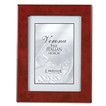Lawrence Frames Faux Burl 8 by 10-Inch Picture Frame, Burgundy