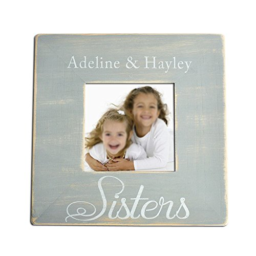 """LOVEhandmade Personalized Sisters Picture Frame, Wooden Photo Frame, Custom Picture Frame, Family Wooden Picture Frame, Gift for Family, Picture Frame 3.5""""x3.5"""""""