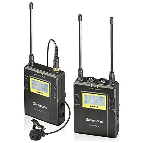 Saramonic UwMIC9 96-Channel Digital UHF Wireless Lavalier Microphone System, Includes RX9 Portable Receiver, TX9 Bodypack Transmitter
