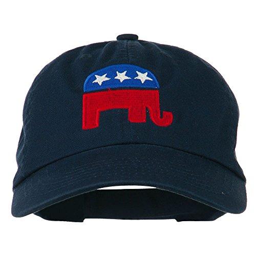 e4Hats.com Republican Elephant USA Embroidered Pet Spun Cap - Navy OSFM