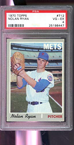 1970 Topps #712 Nolan Ryan New York Mets MLB VG-EX PSA 4 Graded Baseball Card