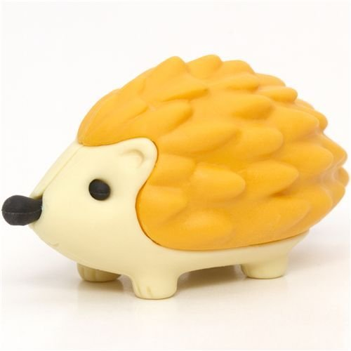 Iwako Yellow Hedgehog Eraser By From Japan