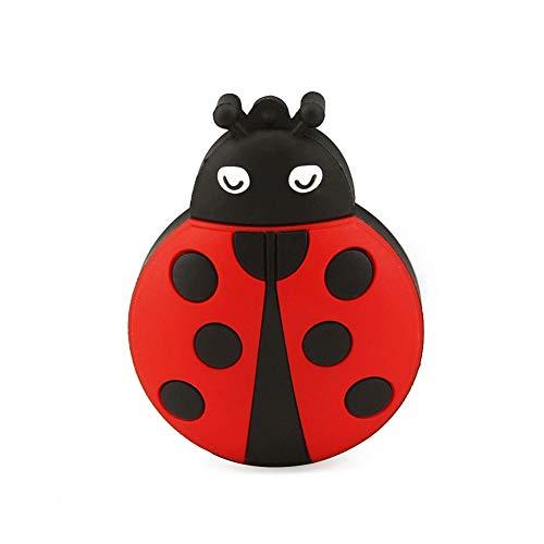 CHUYI Novelty Ladybug Shape Design 32GB USB 2.0 Flash Drive Cute Memory Stick Thumb Drive Data Storage Pendrive Cartoon Jump Drive U Disk Gift