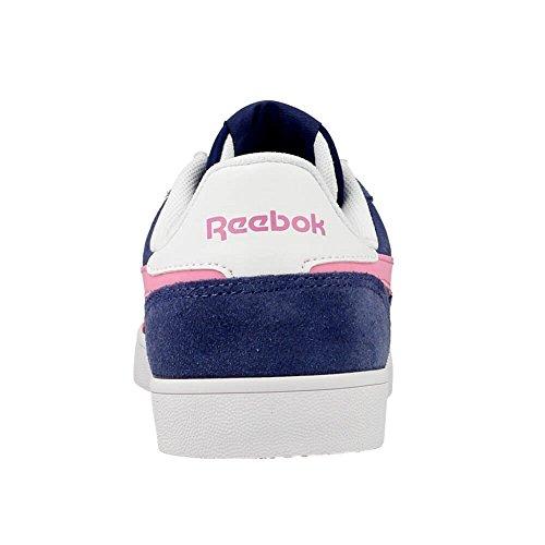 Reebok Royal Alperez Cv, Zapatillas de Deporte Para Mujer Azul / Rosa / Blanco (Midnight Blue / Icono Pink / White)