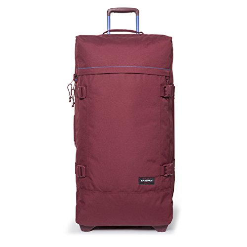 Eastpak Tranverz L Collection Stitch-Out Wheeled Luggage Merlot Stitched