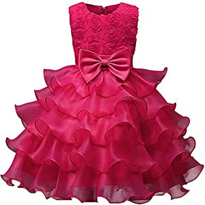 Amazon.com: WillowswayW Kids Girls Rose Bowknot Deccor ...