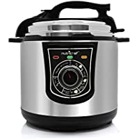 NutriChef High Power Electric Pressure Cooker - 6 Quart Multi Cooker with Lock Top Lid, Adjustable Timer, Stainless Steel Housing and Cooking Accessories for Multiple Recipes - PKPRC15