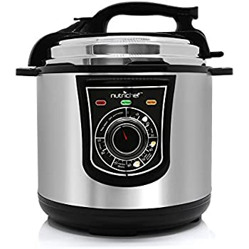 NutriChef High Power Electric Pressure Cooker - 6 Quart Instant Pot Multi Cooker with Lock Top Lid, Adjustable Timer, Stainless Steel Housing and Cooking Accessories for Multiple Recipes - PKPRC15